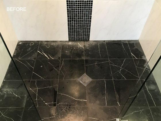 Marble Shower Damage