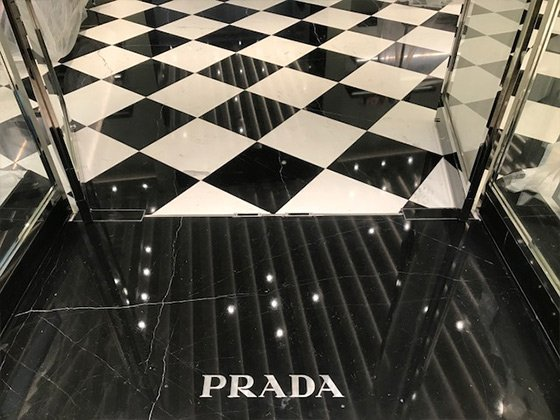 Polished Marble Entry