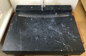 Marble Vanity Damaged Finish