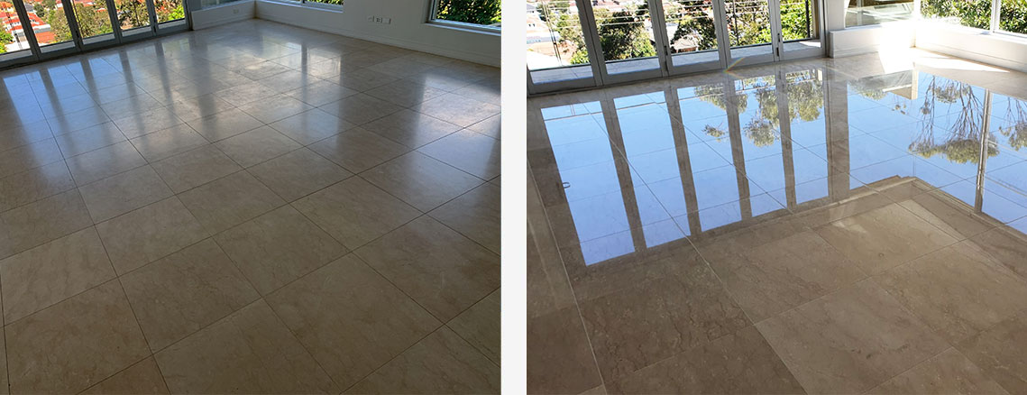 Stone Floor Restoration Before and After in Sydney