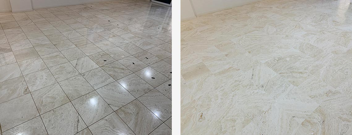 Stone Floor Polishing Before and After in Sydney